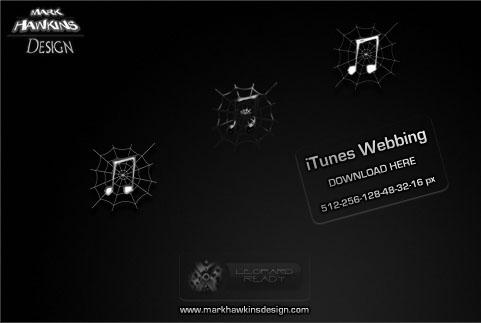 UPDATED Webbed iTunes Icons by scartissuemark