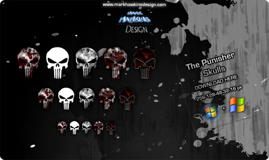The Punisher logo iCons by scartissuemark