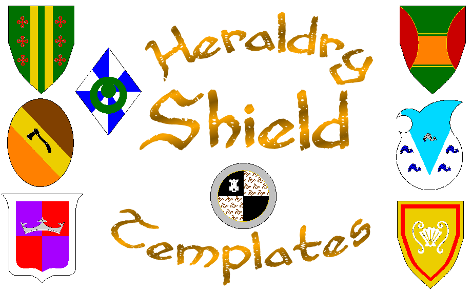 Heraldry Shield Templates by Kingda-Ka