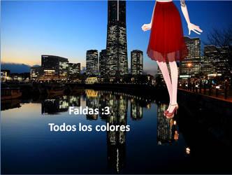 Faldas de diferentes colores by karlotaRini