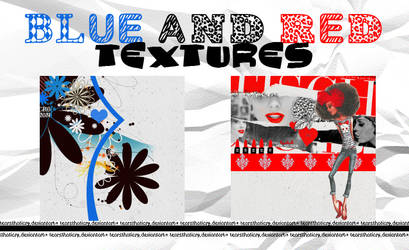blue and red textures