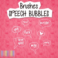 Brushes Speech Bubbles by KristeNRoCiO