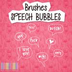 Brushes Speech Bubbles