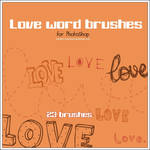 Love word brushes