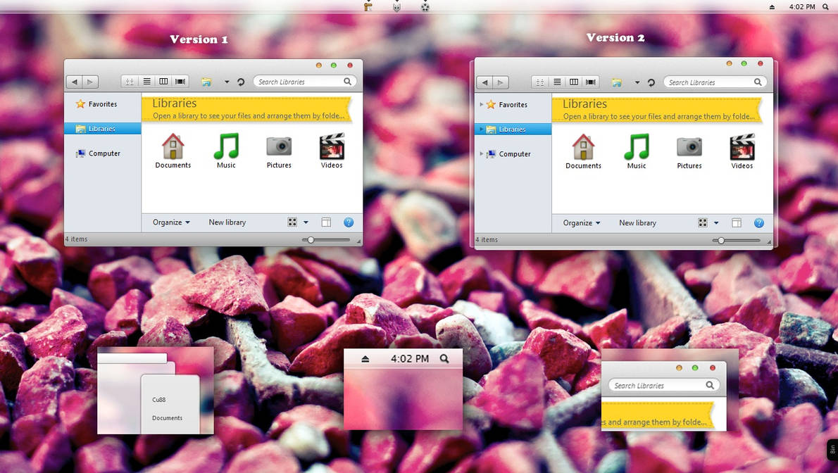 SL 10.6.7 for win7 by Cleodesktop