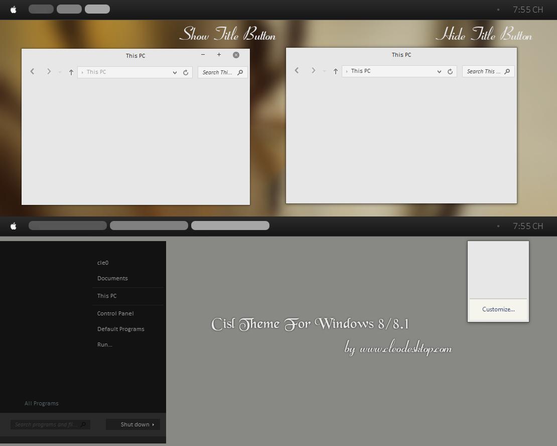 Cisl v1 Update theme for Windows 8/8.1