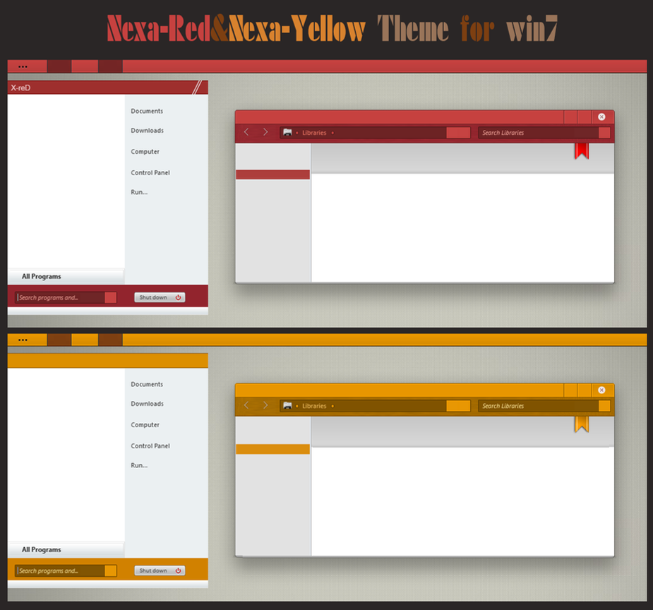 Nexa-Red, Nexa-Yellow For Win7 by cu88