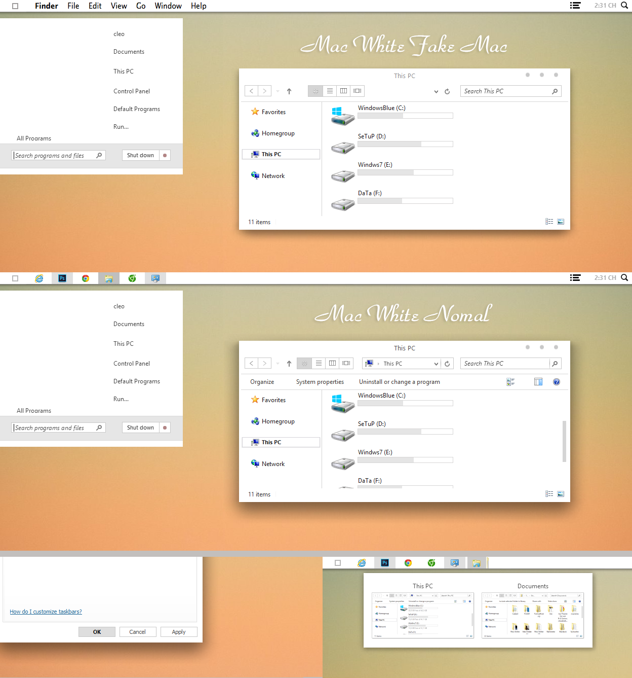 Mac White Theme for win 8/8.1 by cu88