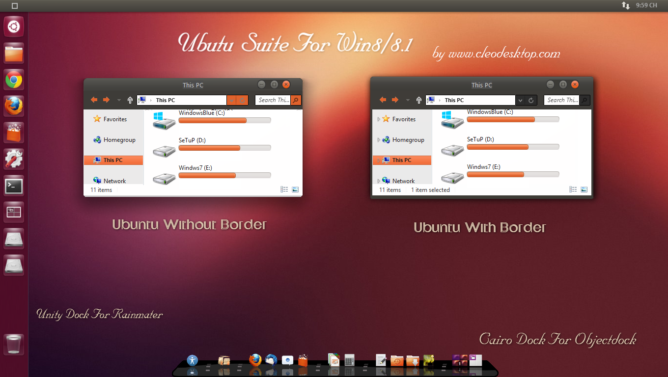 Ubuntu theme For Win 8/8.1(Updated) by cu88