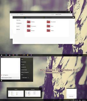 Mata Theme For Windows 8/8.1