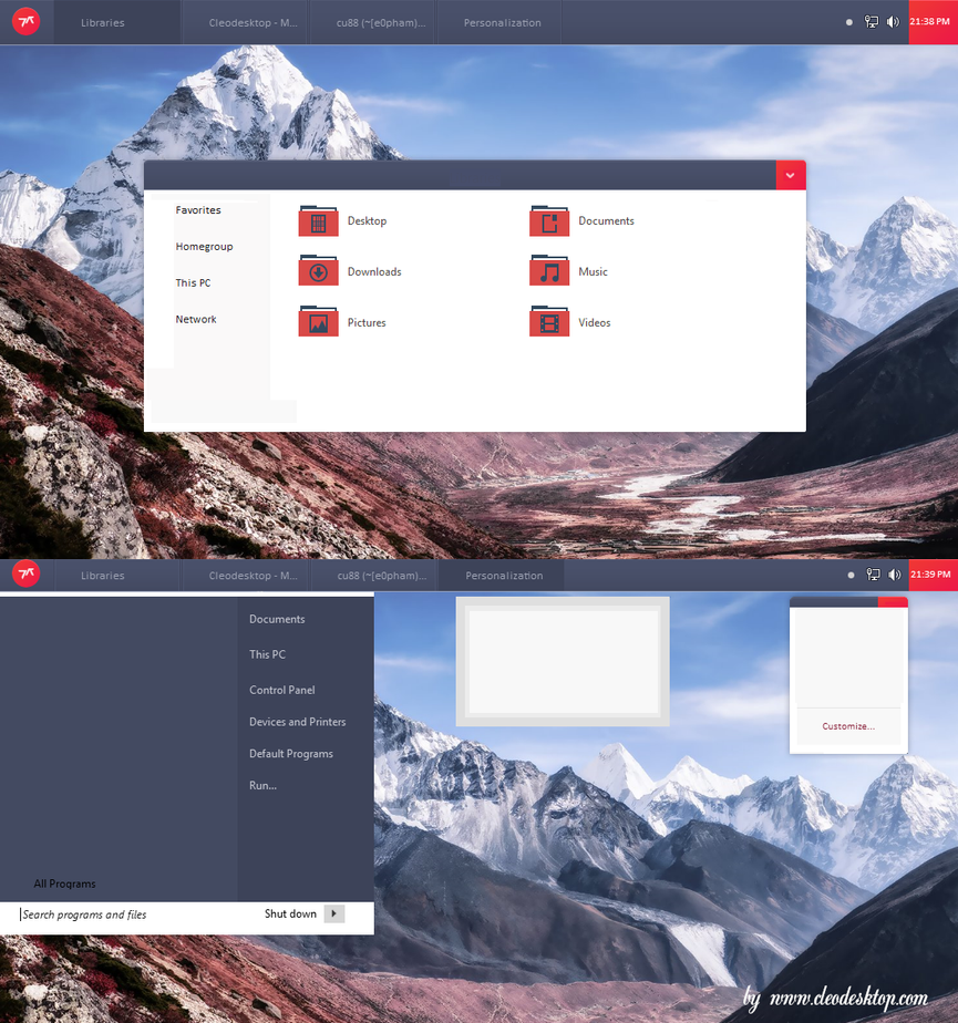 Exo Theme For Windows 8/8.1 by cu88