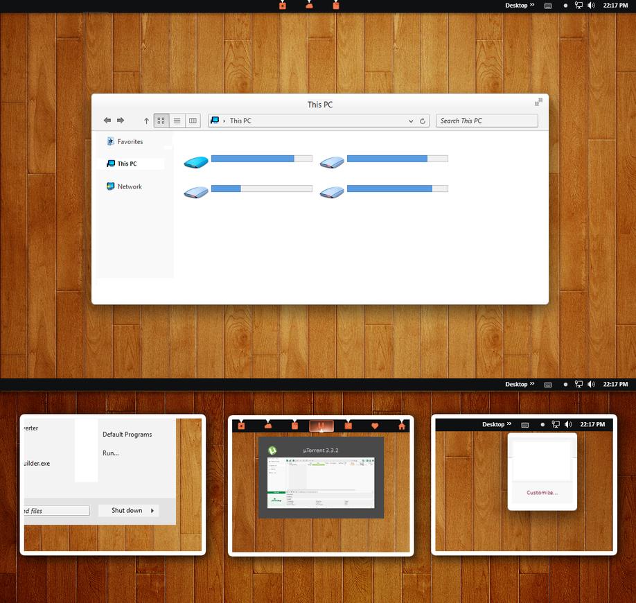 Utuwhite Theme For Win 8 8.1 by Cleodesktop