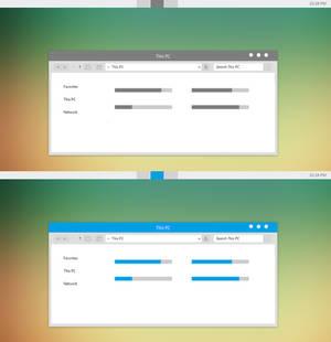 Grey-Blue ML Theme For Windows 8/8.1