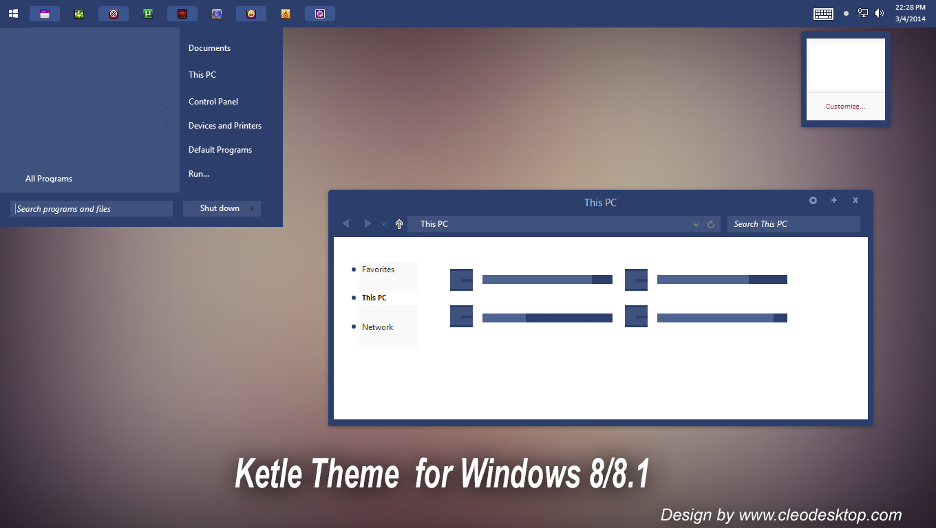Ketle Theme For Windows 8/8.1 by cu88