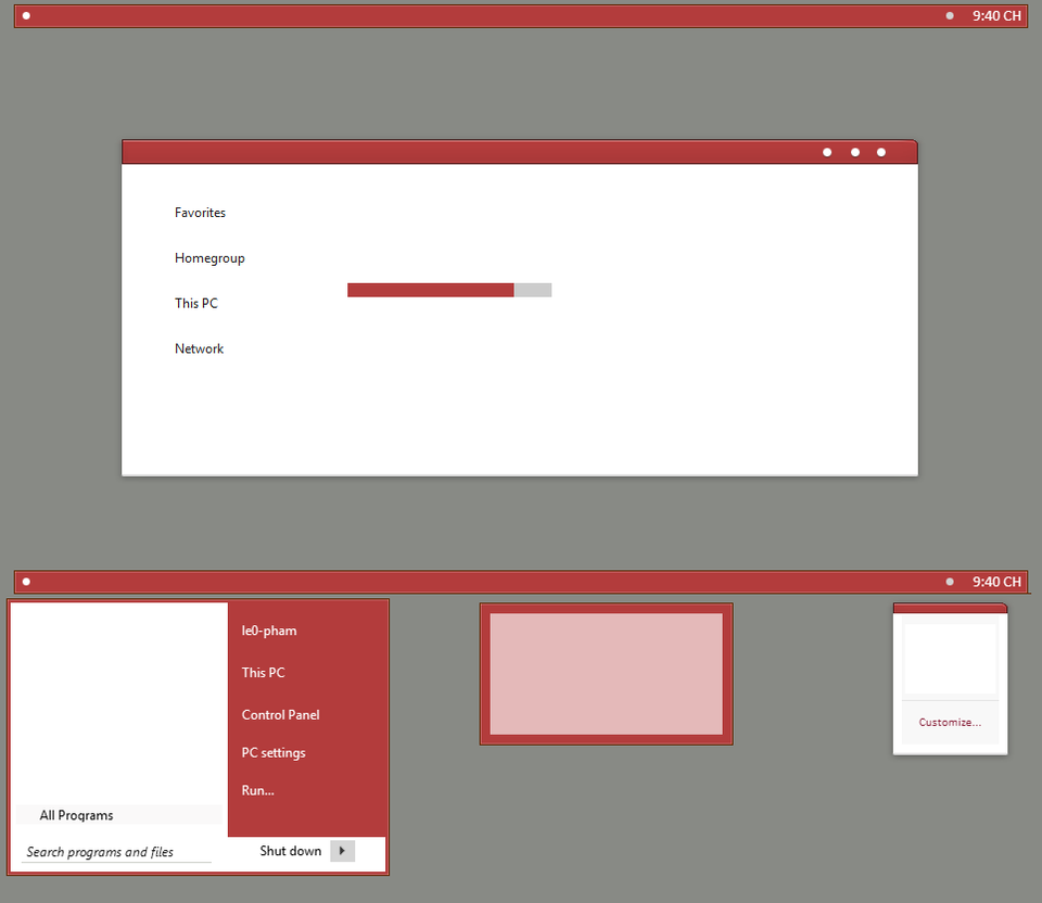 Clear theme for Win8/8.1