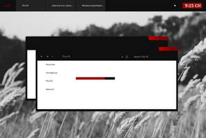 Black Red Minimal Windows 8.1 by Cleodesktop