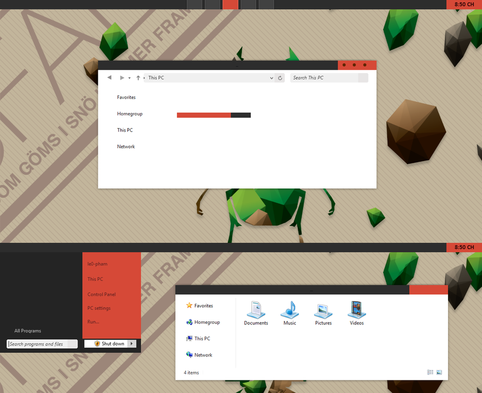 EL Theme For Windows 8.1 by Cleodesktop