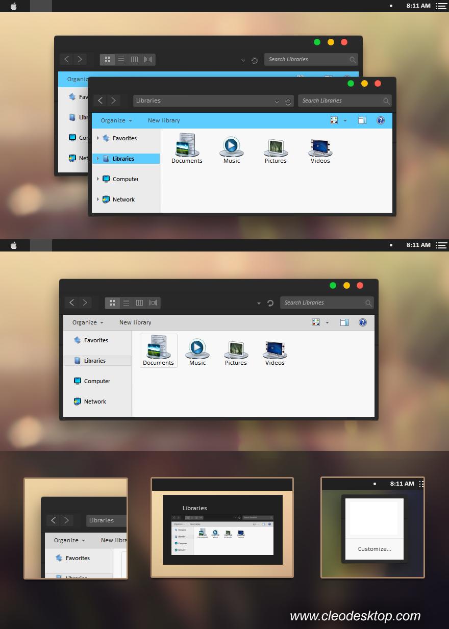 Yosemite Black for Windows 7 by Cleodesktop