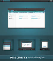 Dark Cyan Theme Windows 8.1 by Cleodesktop