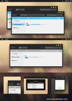 Yosemite Black Theme Windows 8.1 by Cleodesktop