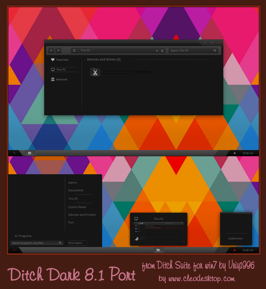 Ditch Dark Theme Windows 8.1 by cu88