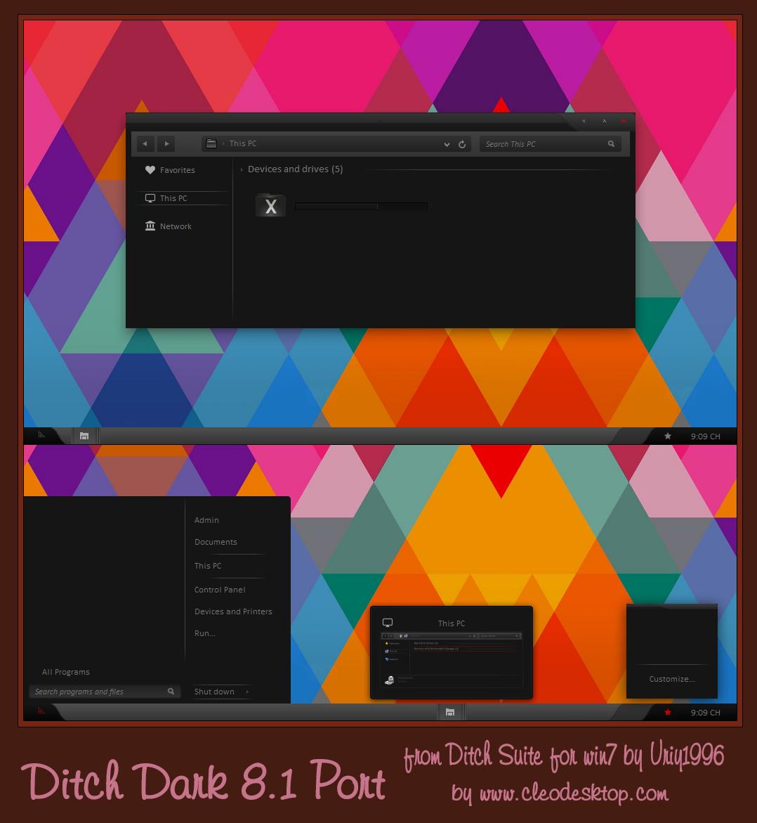 Ditch Dark Theme Windows 8.1 by cu88
