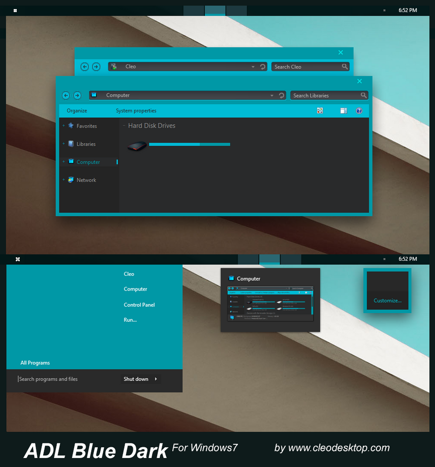 Android L dark theme for Win7/8/8.1