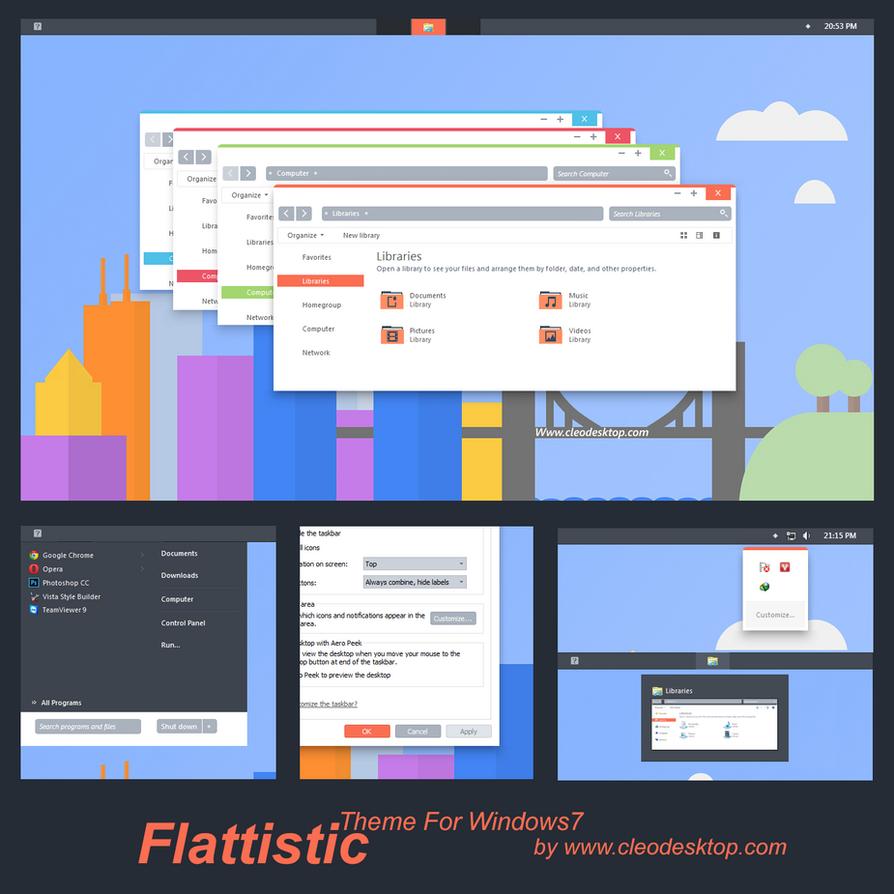 Flattastic Theme For Windows 7 by Cleodesktop