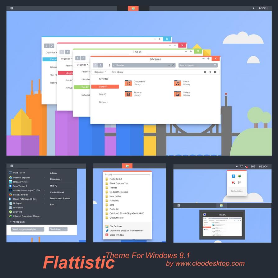 Flattastic Theme Windows 8.1(Updated) by cu88