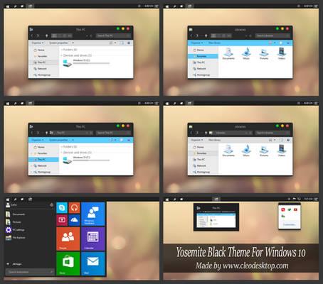 Yosemite Black Theme Windows 10