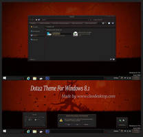 Dota2 Theme Windows 8.1 by Cleodesktop