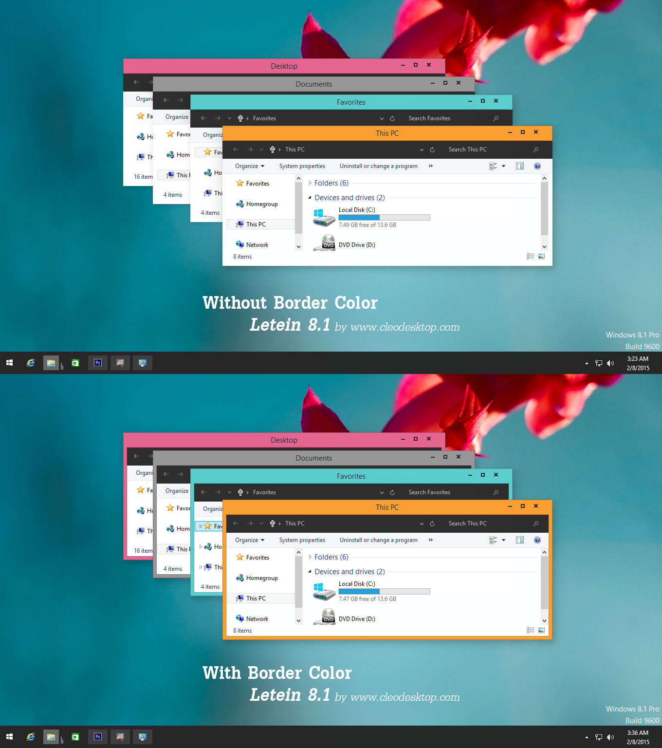 Letein Theme Windows 8.1