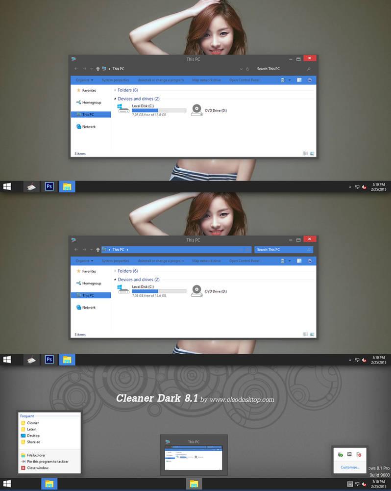 Cleaner Dark Theme Windows 8 1 by Cleodesktop on DeviantArt