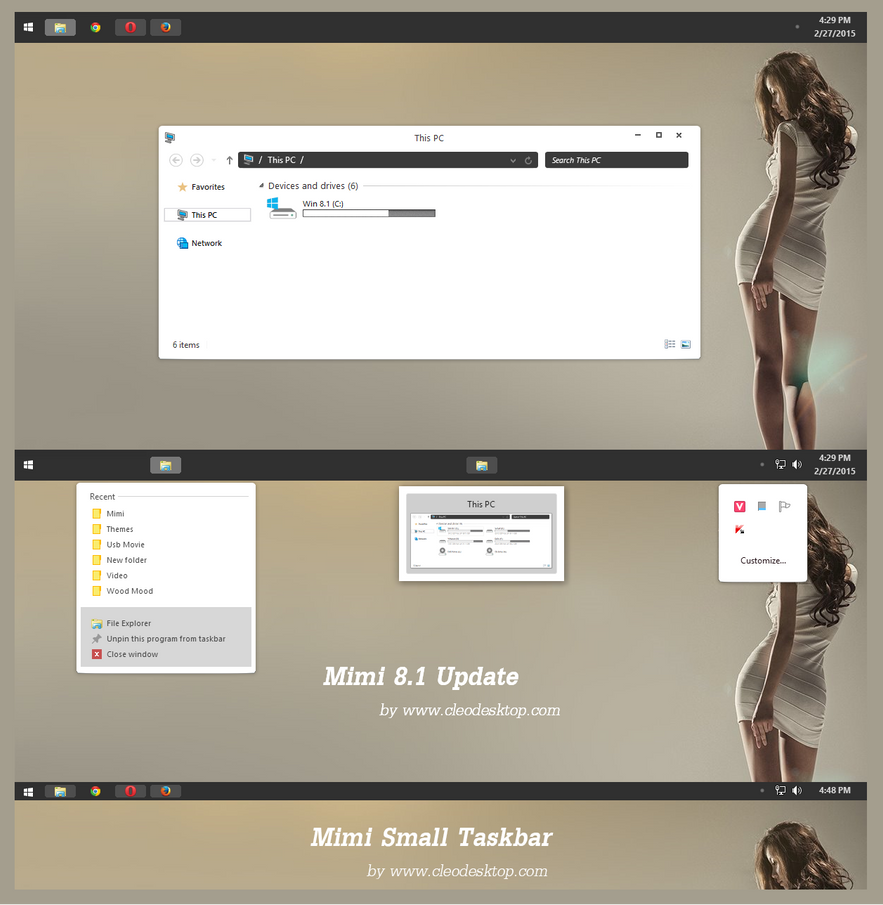 Slate theme for Win8.1