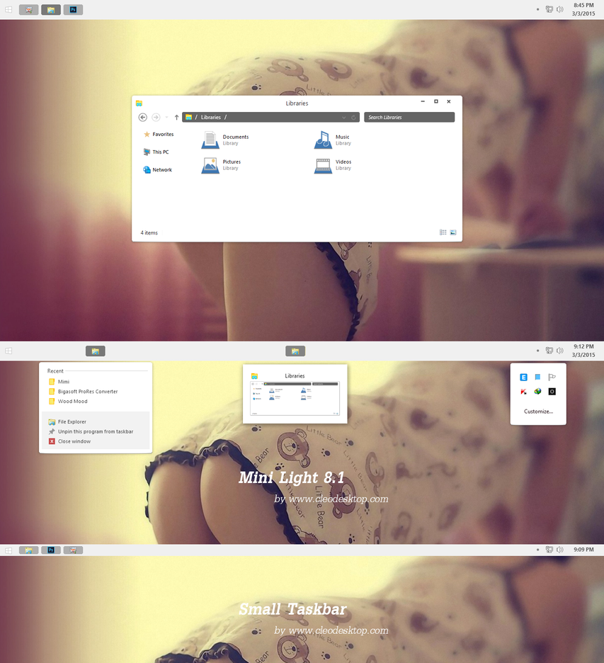 Mimi White theme for Win8.1