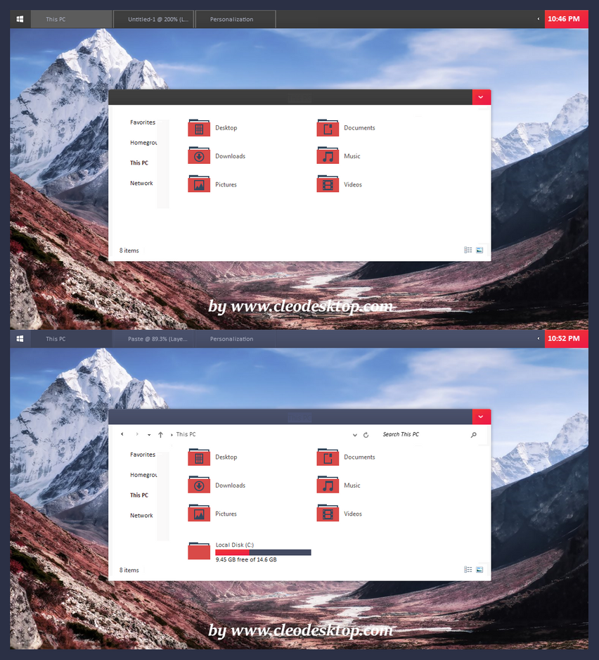 Exo Black Red Theme For Win8.1