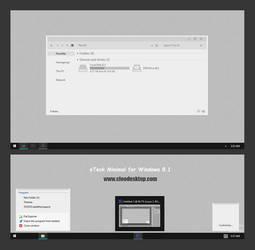 Etech Minimal Theme For Windows 8.1 by Cleodesktop