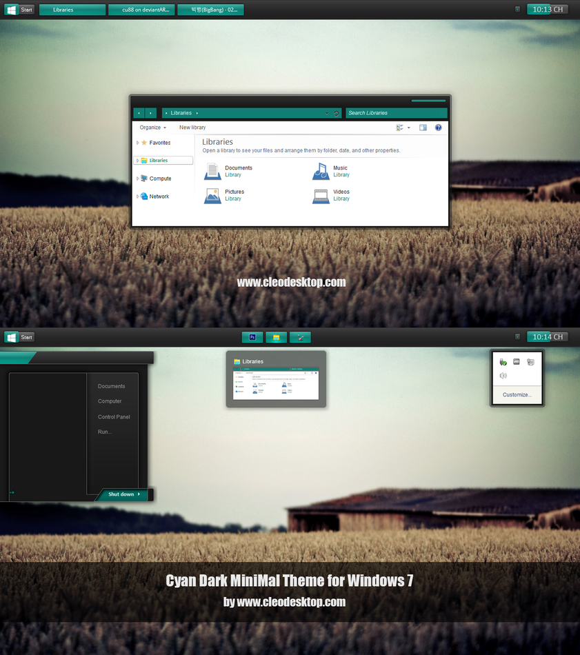 Cyan theme for Win7/8.1