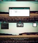 Cyan Dark MiniMal Theme For Windows 8.1