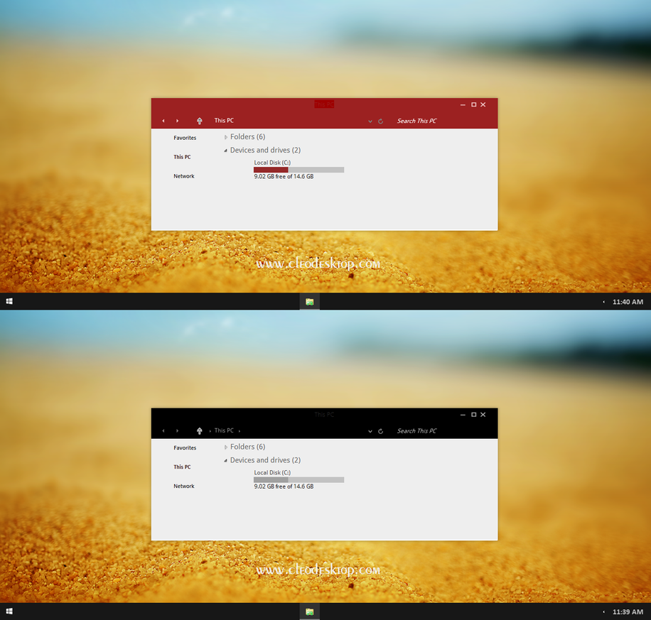 Etech theme for Win7/8.1