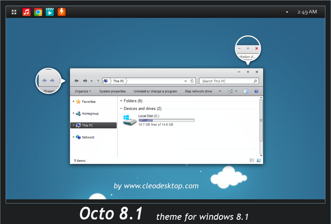Octo theme for Win7/8.1