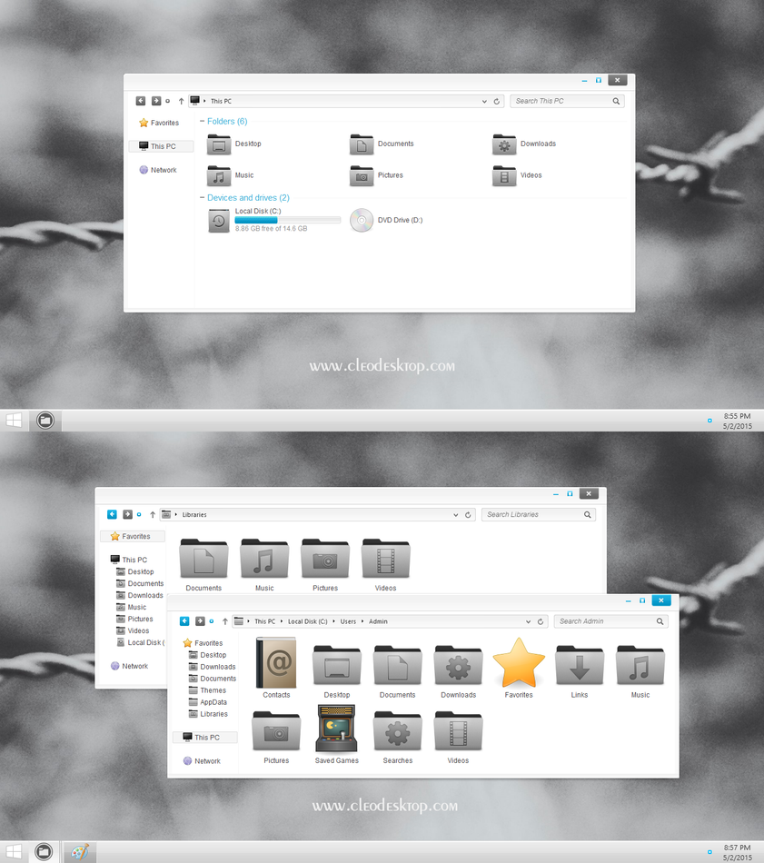 Enfi iconpack for Win7/8/10