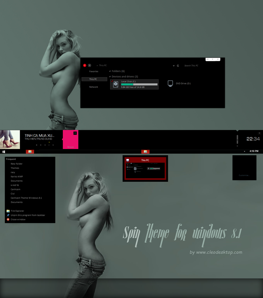 Spin Theme For Win7/8.1