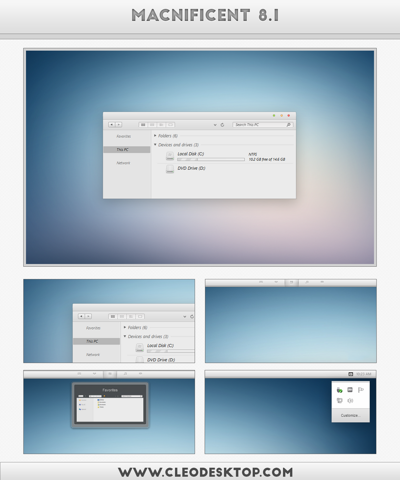 Macnificent Theme for Win7/8.1