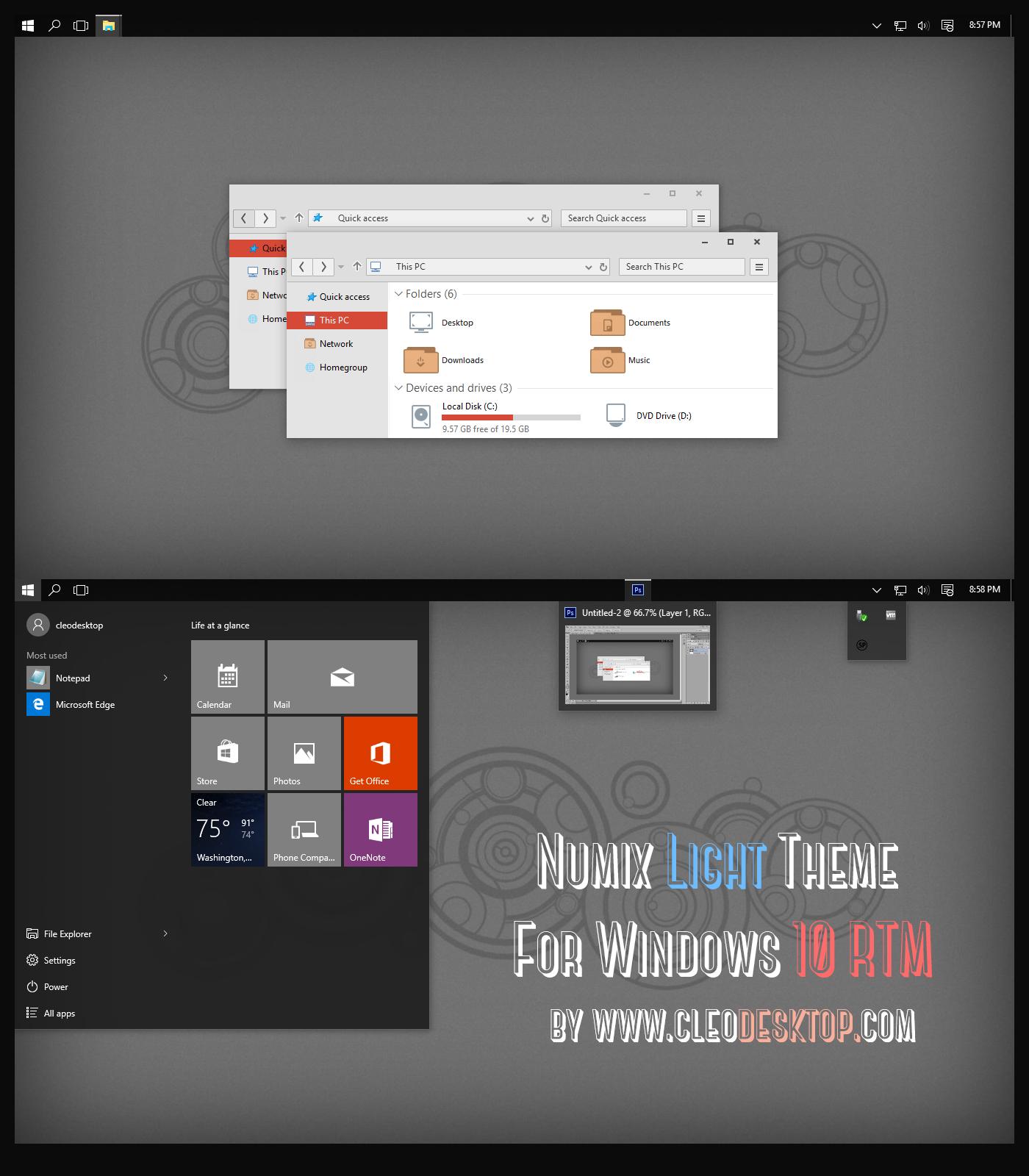 Free Windows 10 Themes And Skins 2019: Tema Evolucion 4