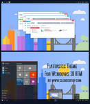 Flattastic Theme For Windows 10 RTM