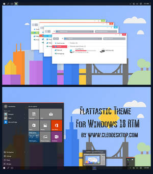 Flattastic Theme For Windows 10 RTM