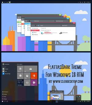 FlattasDark Theme For Windows 10 RTM