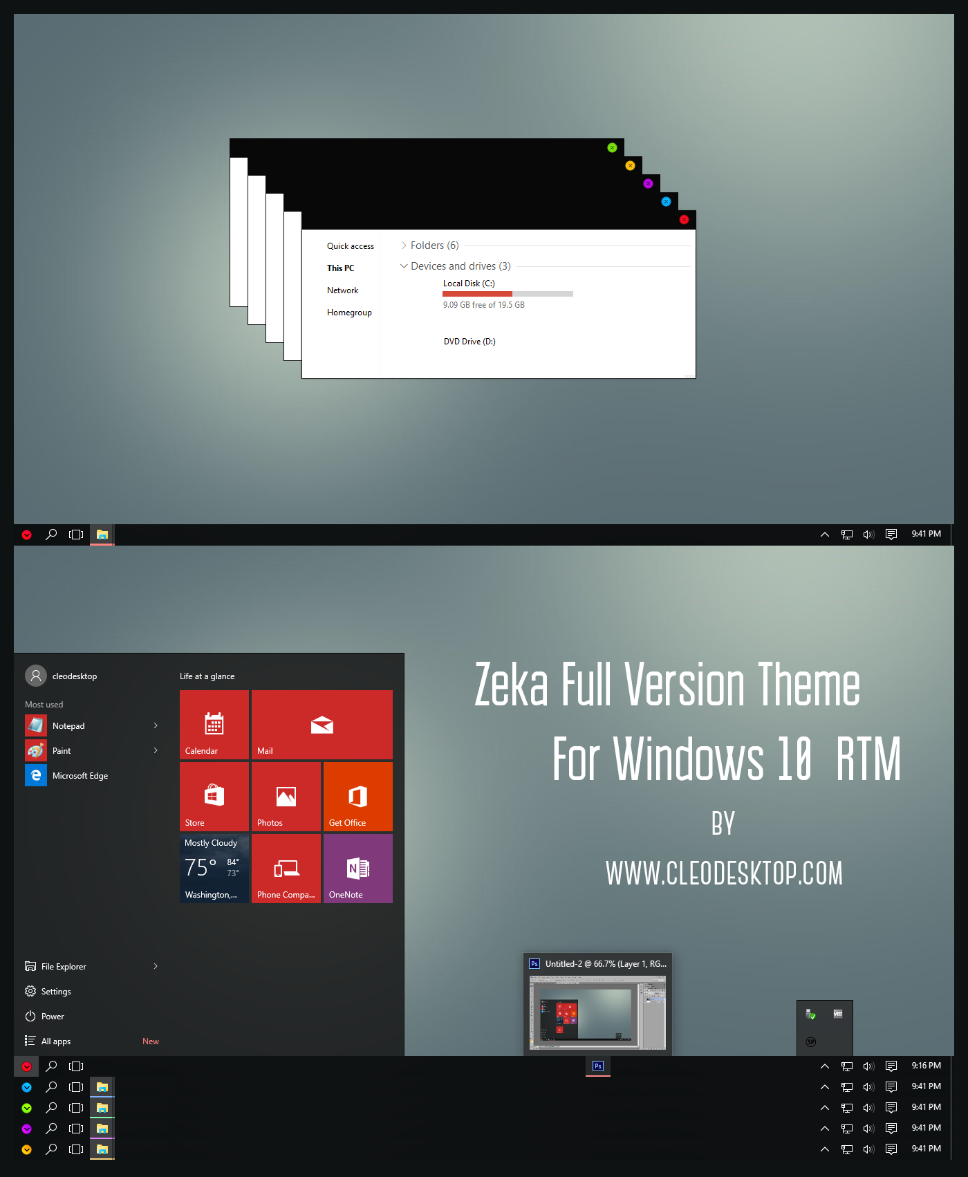 Zeka Full Vesion Theme Windows 10 RTM
