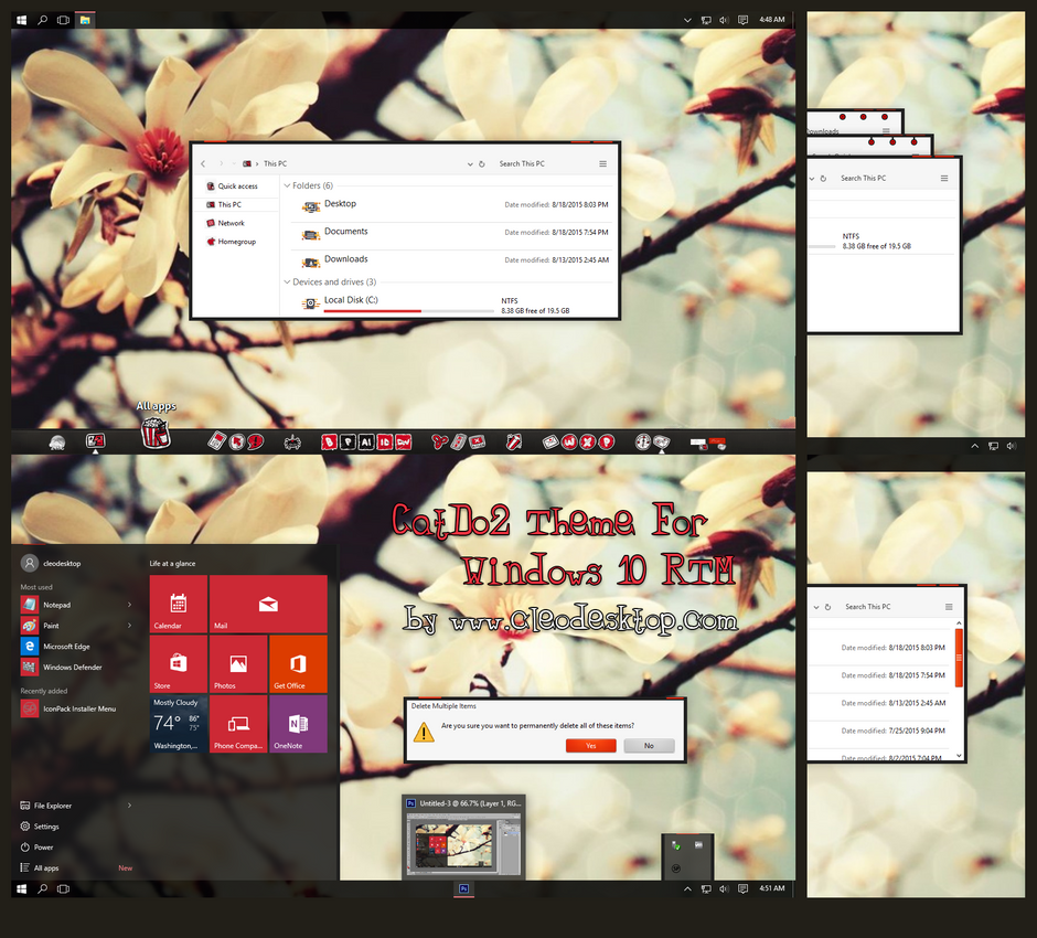 Catdo2 Theme For Windows 10 RTM by cu88